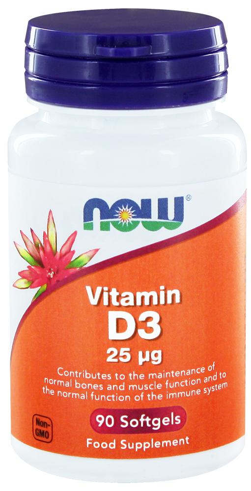 Vitamin D3 25ug 90 softgels